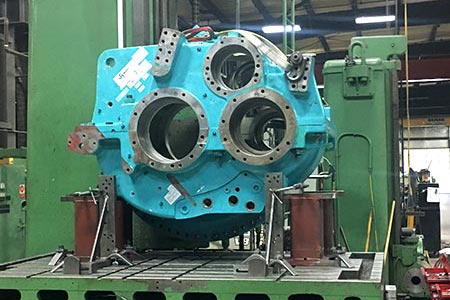 A large machine part for wind turbines