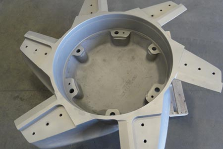 Large pulp and paper machine part
